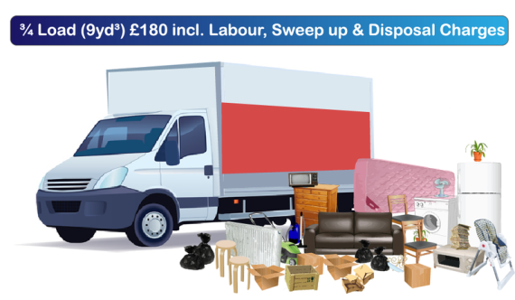 budget junk rubbish clearance prices 9 yard skip alternative