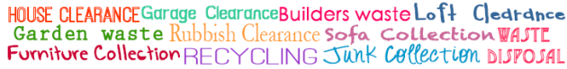 house clearance, garage clearance, builder waste removal, loft clearance, shed removal, garden waste disposal, furniture collection, recycling, reuse, budget junk,